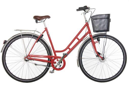 Pilen citycykel Dam röd